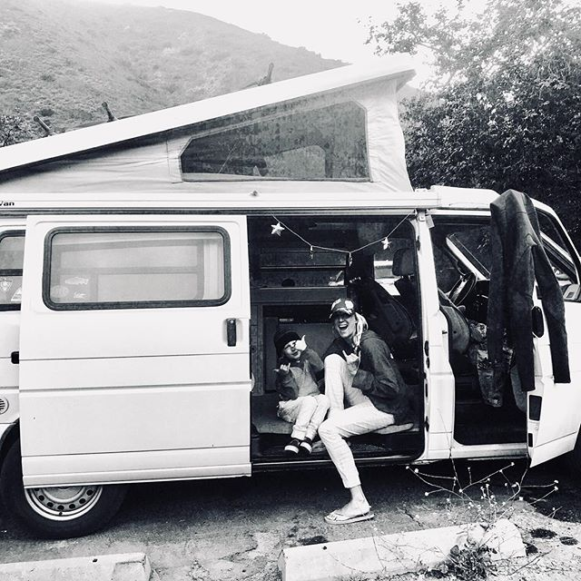 Summer camping with the fam #VW #campervan #nightsurf #malibunights