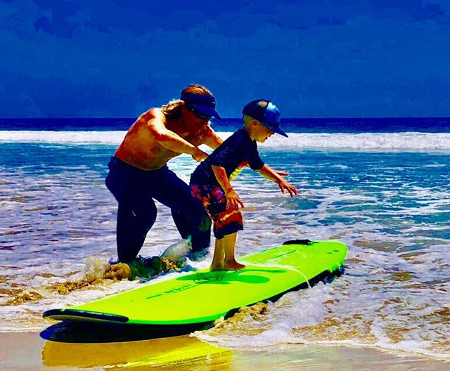 Grom froth in full affect.  4 years old and your next #malibusurfcoach prodigy #futureripper #startingoffyoung #letsdothis