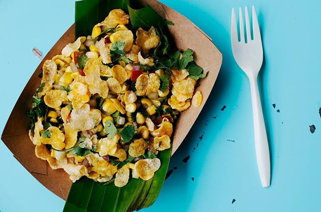 It's summer and that corn [bhel] craving is real 🌽☀️ photo: @emschultzphoto