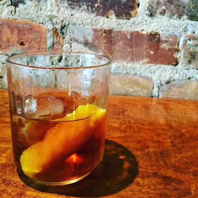 """The Jenova Project"" Bulleit Rye, Salignac, Zucca, maple syrup, orange bitters. @bulleit @carloazzini @squareenixusa #finalfantasy #avlimbibe"