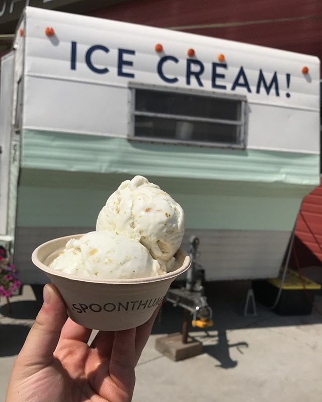 I scream, you scream, we all scream for Coconut Ginger Lime Ice Cream! 💚 Back after popular demand, we are excited to share this yummy vegan treat with you!  Come and get it! We are scoopin at our Shasta until 9 pm!!🍦