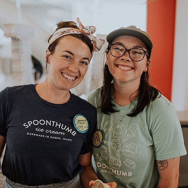 It's Sophie's last day as a Spoonthumber! We will certainly miss her innovative recipes and smiling face behind the counter. 💕 Thanks for all your passion and hard work @sophdaboph. 📸 by @roots.boise.