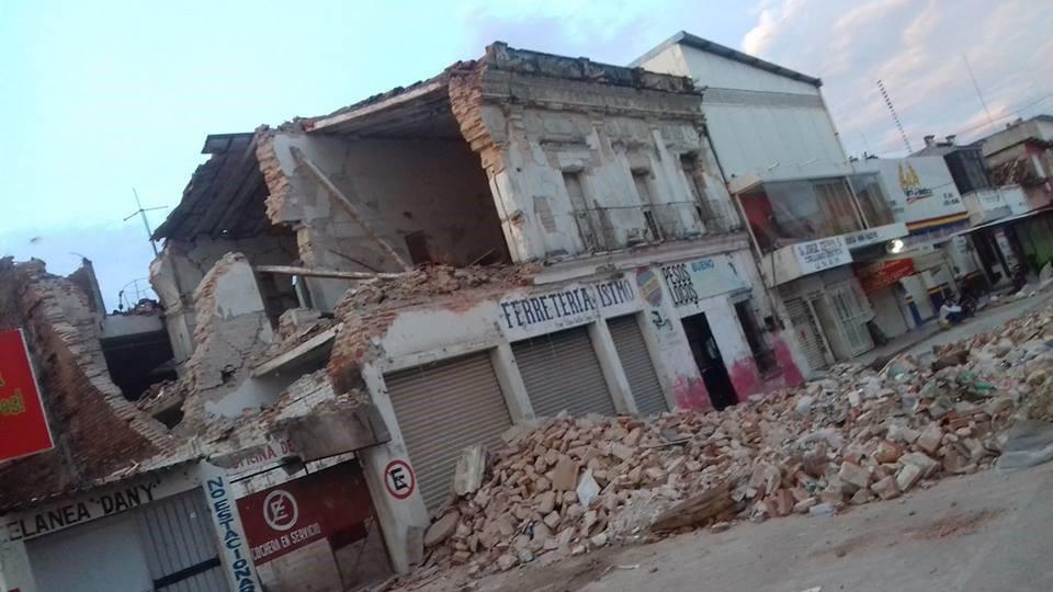 Fig.5. Devastation in Juchitán de Zaragoza, Oaxaca, Mexico, CEPIADET, September 2017