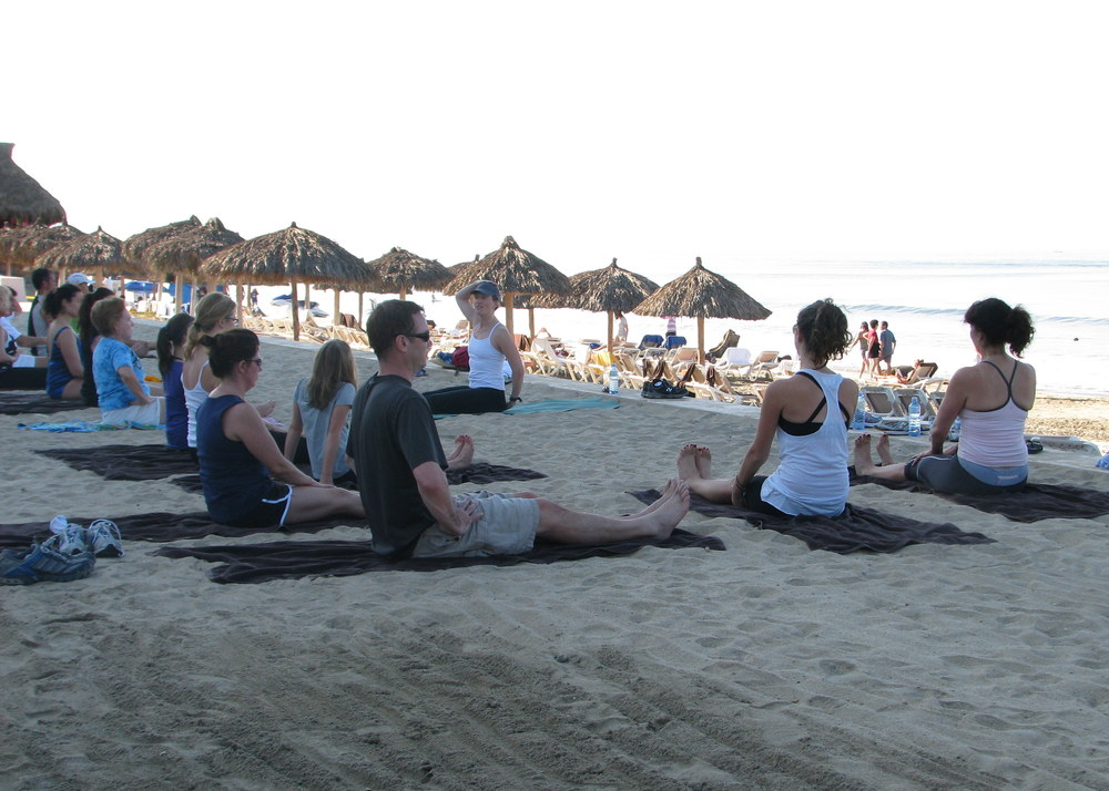 Yoga on PVR Beach