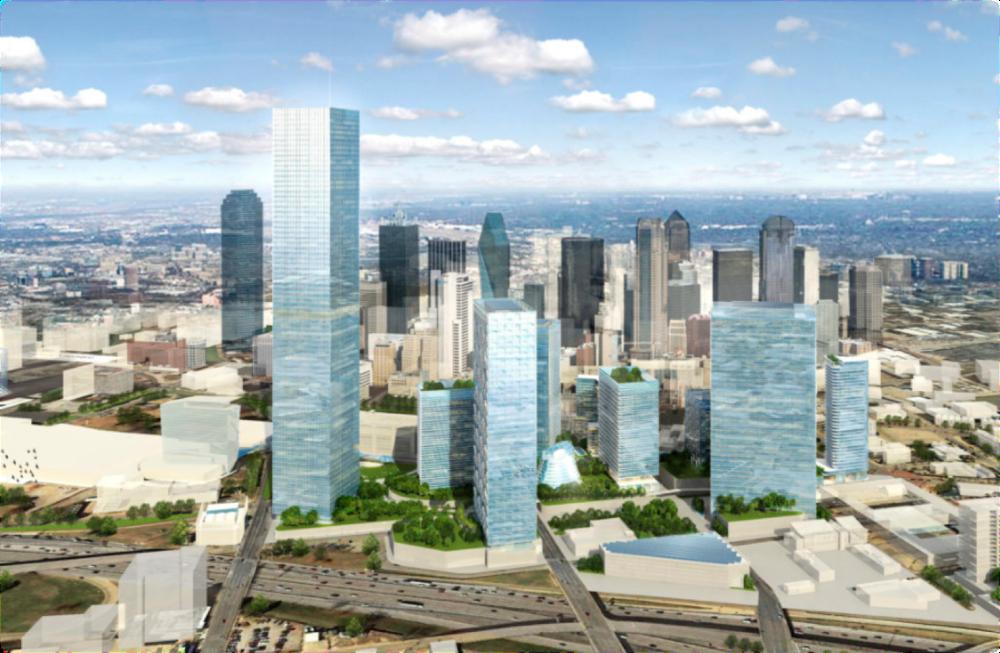 <ダウンタウン・ダラスで最も高いビルとなるスマートディストリクト開発>