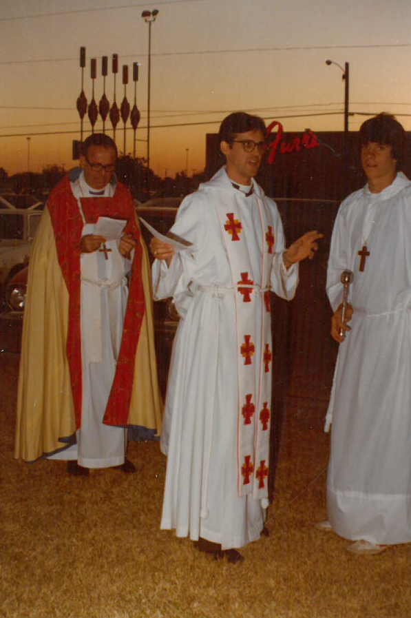 Father Bill Nix - Groundbreaking - October 19, 1977