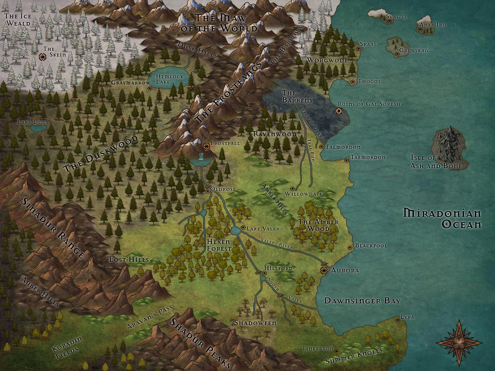 Inkarnate World Map.Northeastern Olandara My First Map For The New Campaign World With