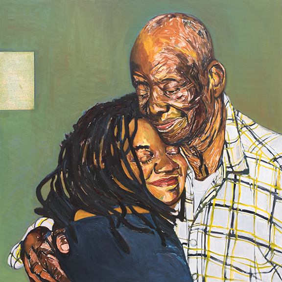 Daddy's Embrace  oil on canvas   40x40 in.