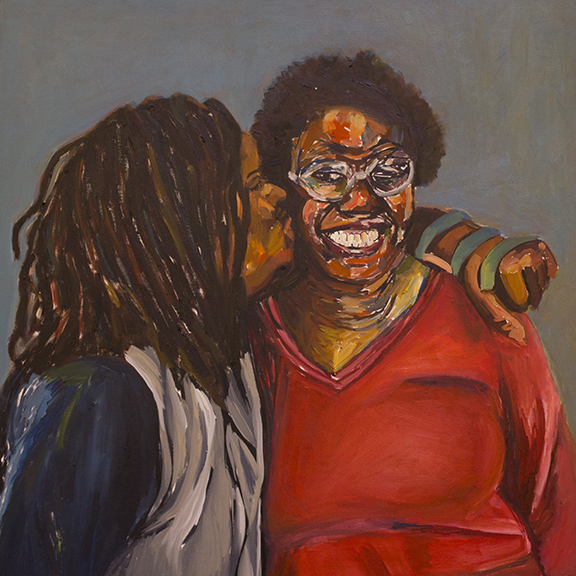 Sisters oil on canvas   36x36 in.