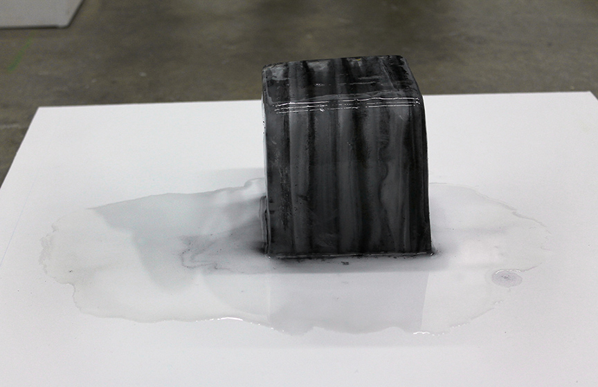 "Erin Canady ""Temporary Object"" Ice and Graphite"