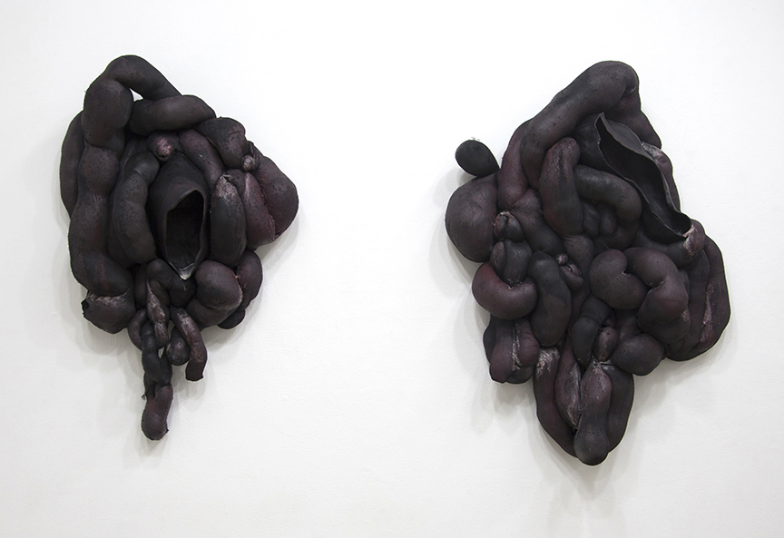 "Emily Smith ""Evelyn"" Nylon, Rubber Coating, Paraffin Wax, Stoneware"