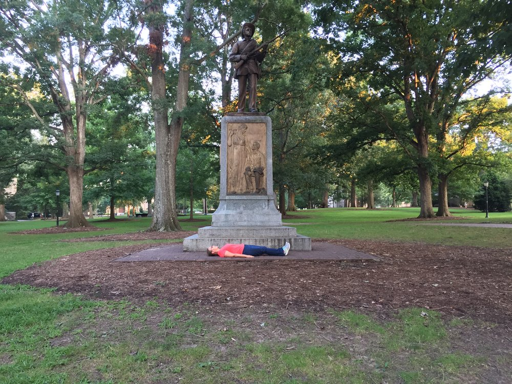 Silent Sam, Confederate monument on the grounds of UNC Chapel Hill, NC