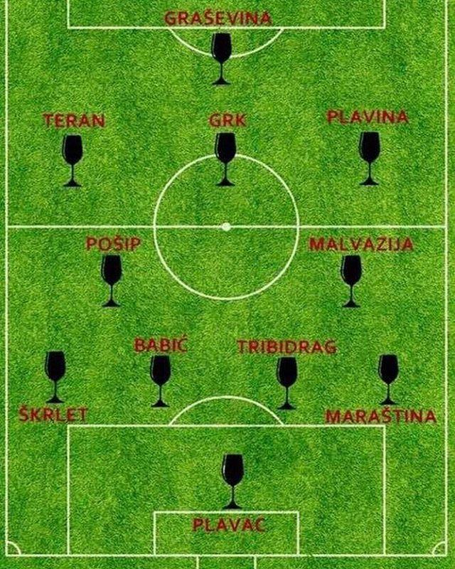 Now this is our kind of football match! Idemo Hrvatska! ⚽️ 🇭🇷 . . . . . #worldcup #worldcup2018 #croatia #hrvatska #vatreni #idemohrvatska #croatianwine #winegeek #winelover #winetime
