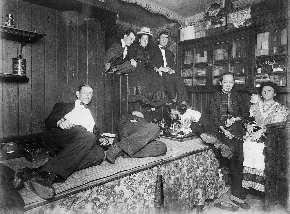 An American opium den.