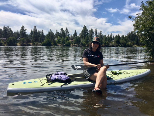 "Julie's ""BOARD"" meetings...on the beautiful Deschutes."