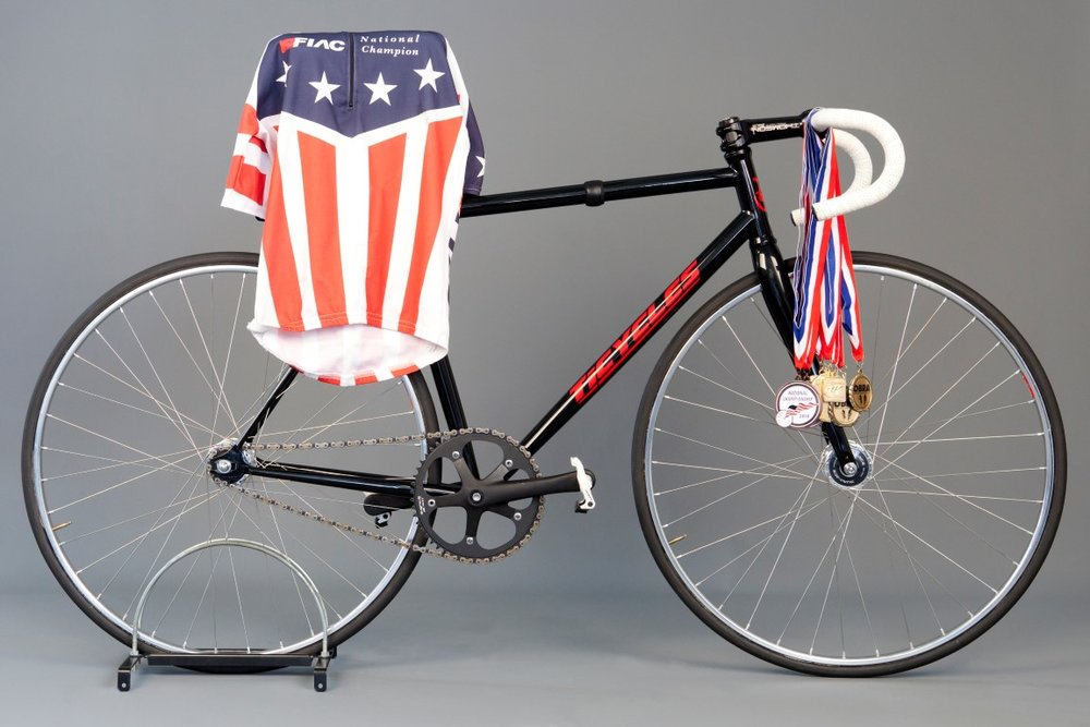 OHBS 2010, Zak BAT bike with medals.jpg