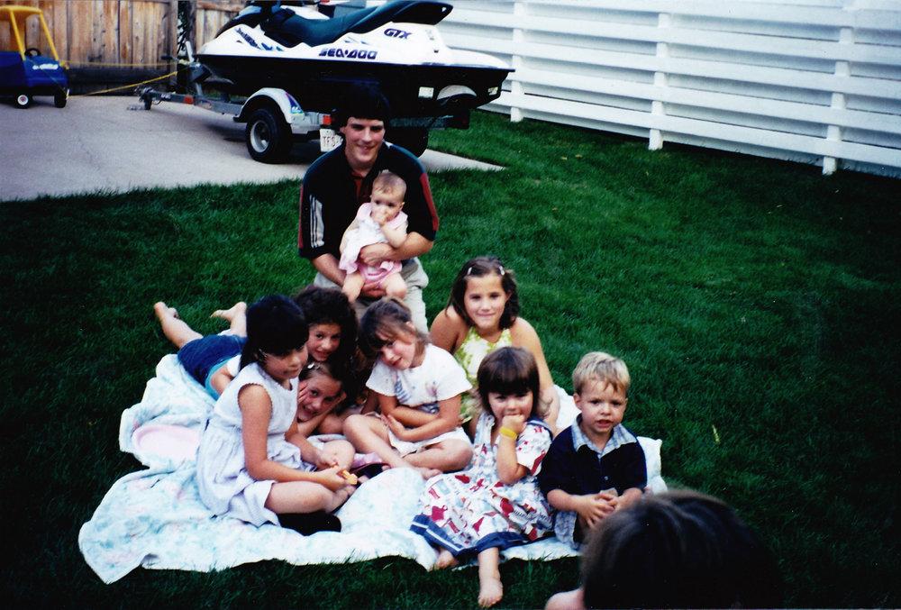 The kids of Byng Street, July, 2000.