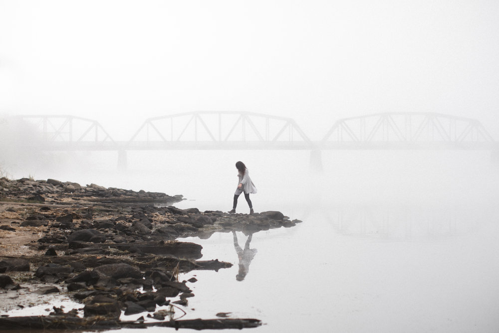 From an early morning back in October, I made Morgan late for class for the sake of running around in the fog.