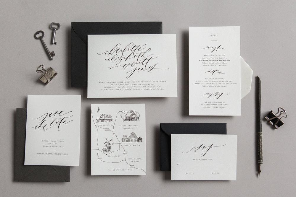 SemiCustom Wedding Invites Written Word Calligraphy and Design