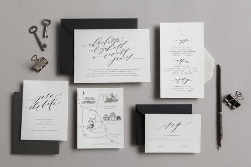 Semi custom wedding invites written word calligraphy and design written word semi custom suites 2017 200g filmwisefo