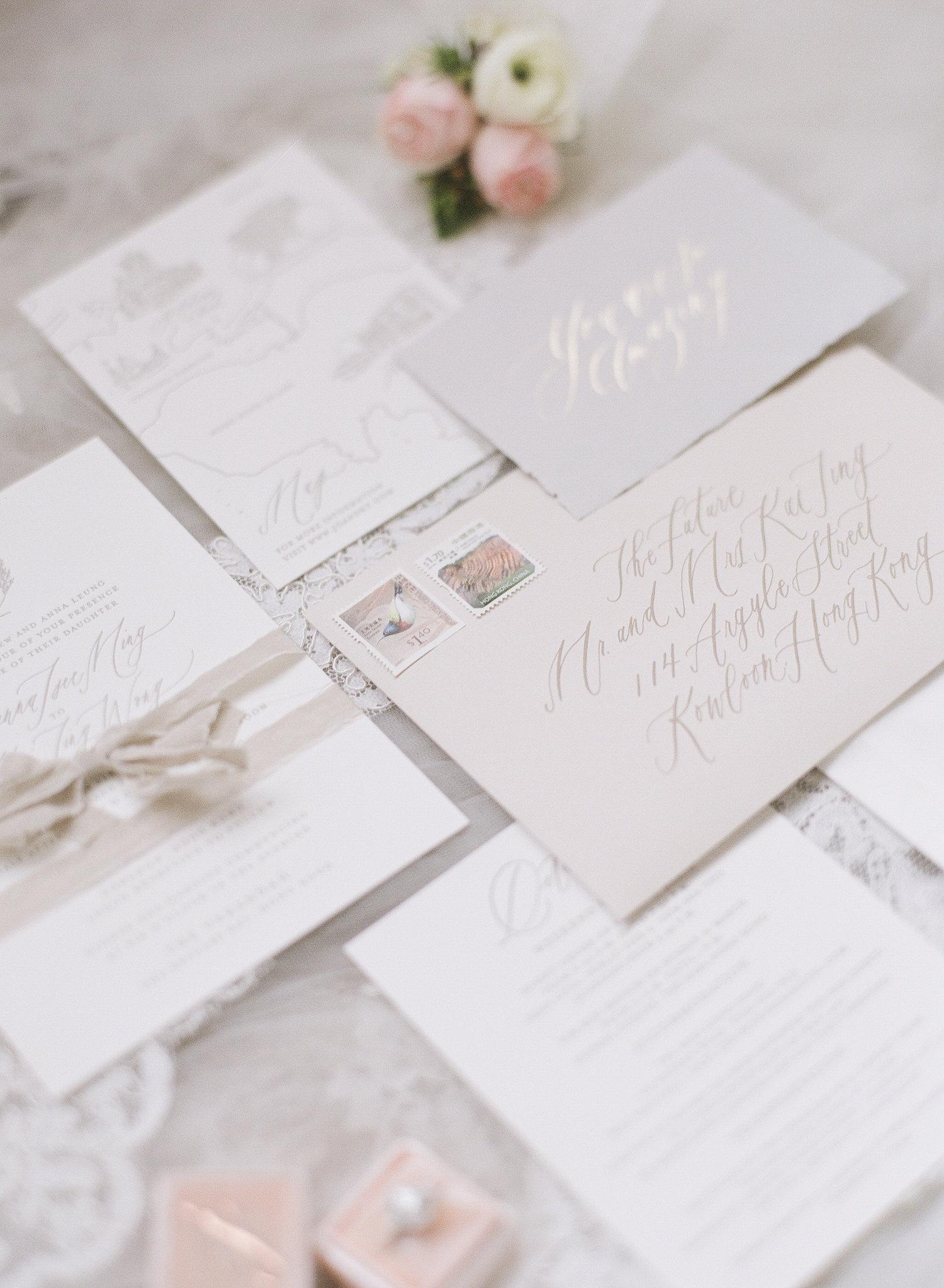 Neutral Vellum Wrapped Wedding Invitations The Verandah