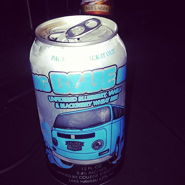 Podcast drink of the week. Big Blue Van. Seriously delicious!