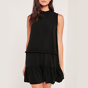 Ruffle - Missguided - Black Dress.jpg
