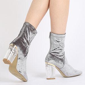 Ankle Boots - Public Desire - Grey Velvet.jpg