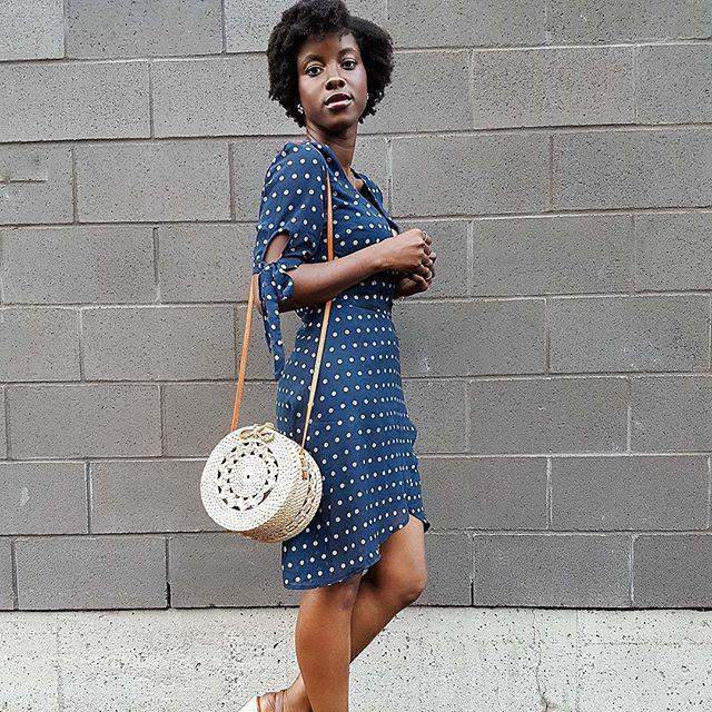 Polka dot dress 👌🏼 Shop the look of @petiteandbold on labelsco.com