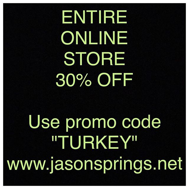 Happy Turkey Day, y'all!!! Black Friday sale starts NOW on ALL merch over at jasonsprings.net!! Head over and grab a cd/shirt/koozie for that music fan in your life, they make solid Christmas gifts!! Thanks to everyone for the continued support, now lets go eat ourselves stupid. . . . . #blackfriday #thanksgiving #sale #turkey #supportlocalmusic #supportlocalartists #sova #southernva #danvilleva #supportoriginalmusic #songwriter #singersongwriter #folk #blues #altcountry #acoustic #americana  #reddirt #independent #independentartist #indie #indieartist #country #roots #virginia #virginiamusic #virgniaartist #merch