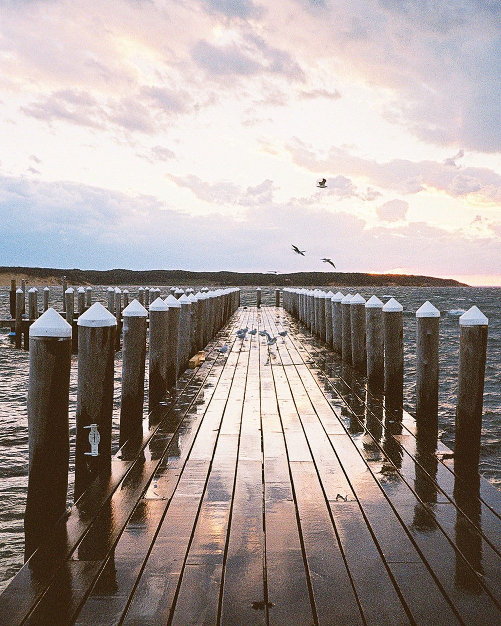 This pier looks so much more peaceful than it really was…