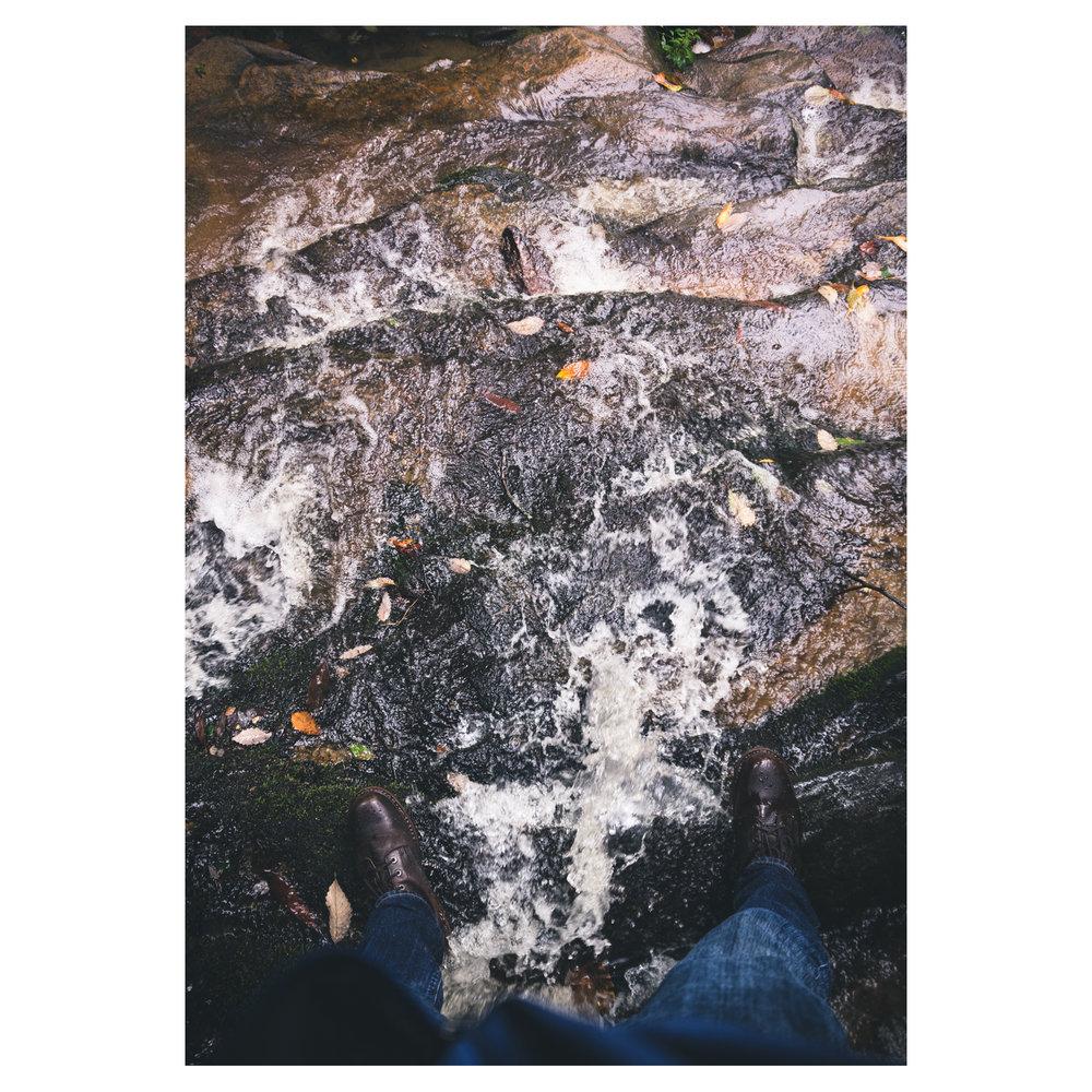Feet in the falls