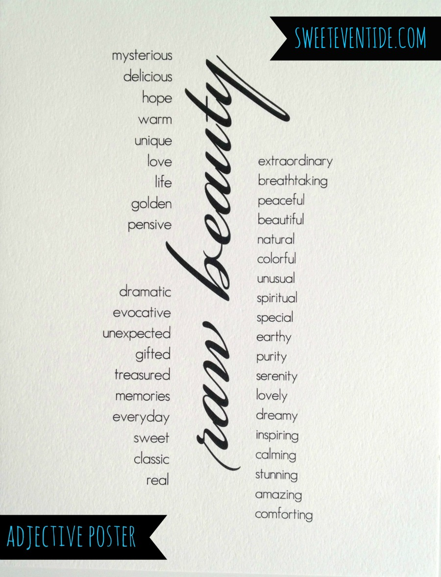 Adjective Poster for Business Marketing, typography