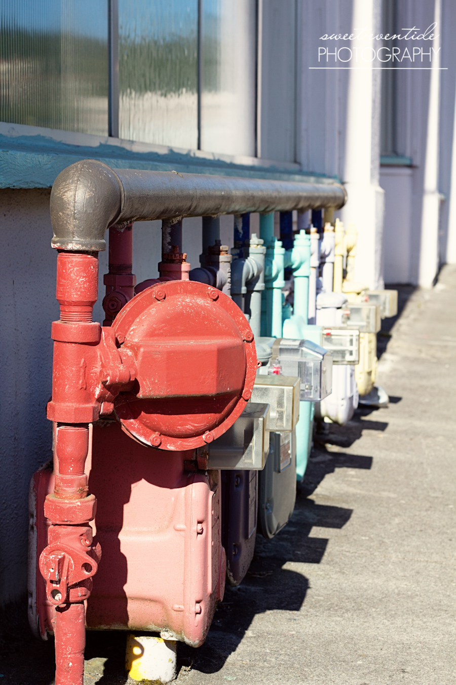colorful utility meters astoria oregon