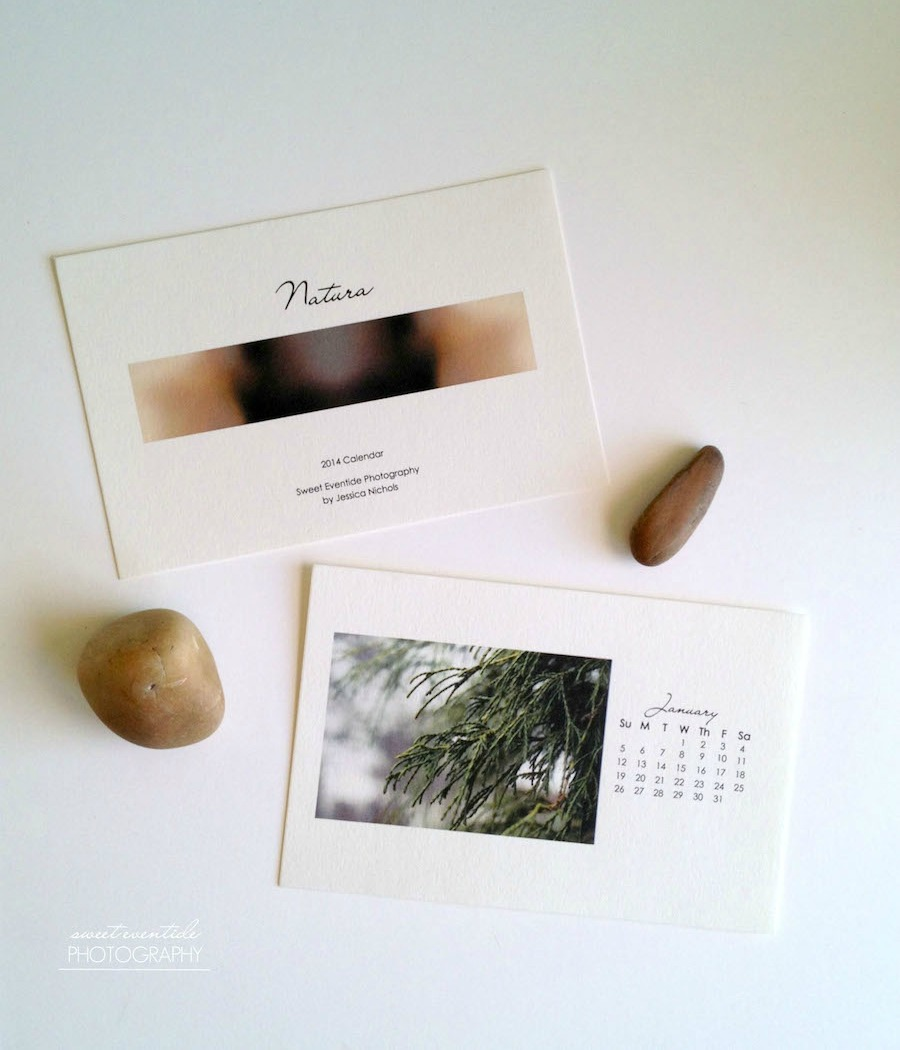2014 Photography Calendar Nature Images by Sweet Eventide