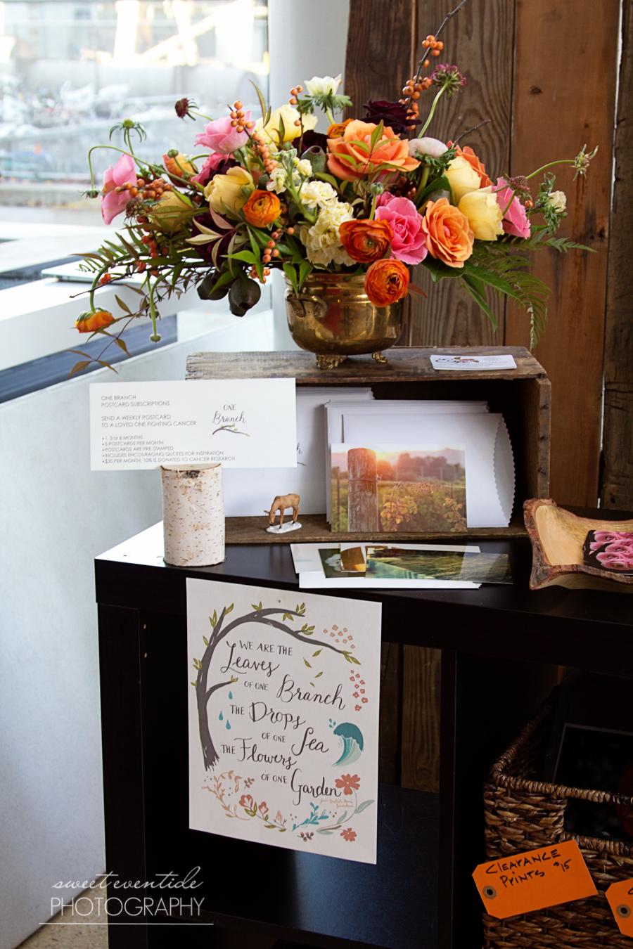 handmade northwest sweet eventide photography booth display