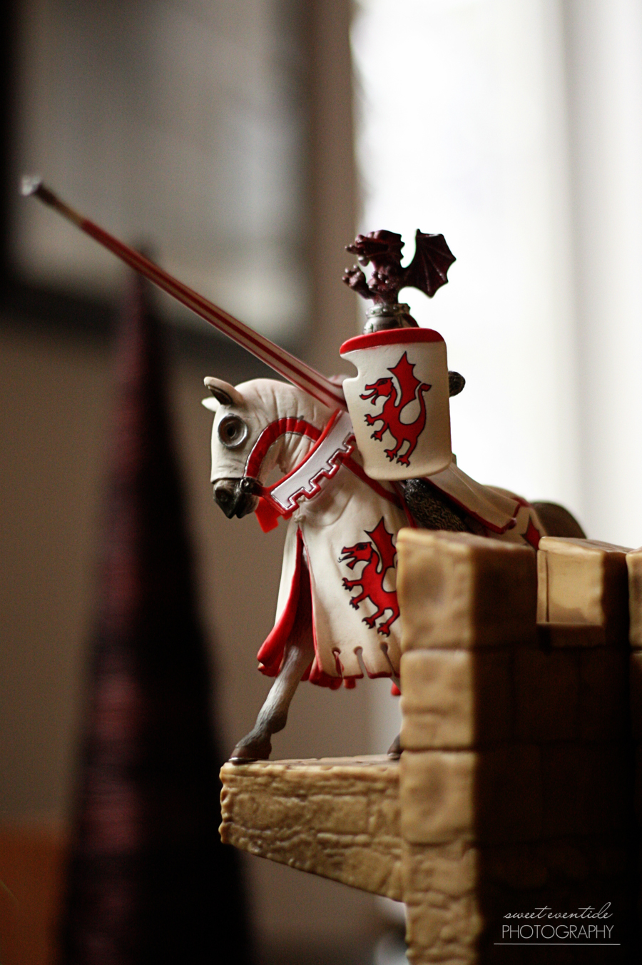 Schleich horse and knight photograph by Jessica Nichols