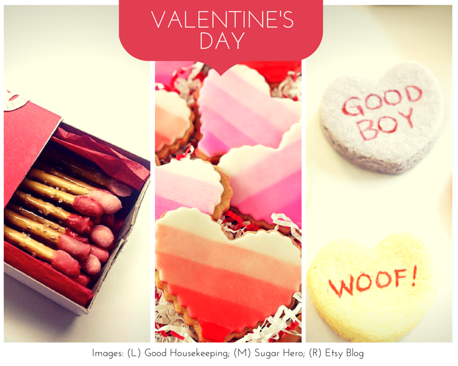 a collection of Valentine's Day treats and crafts on Pinterest