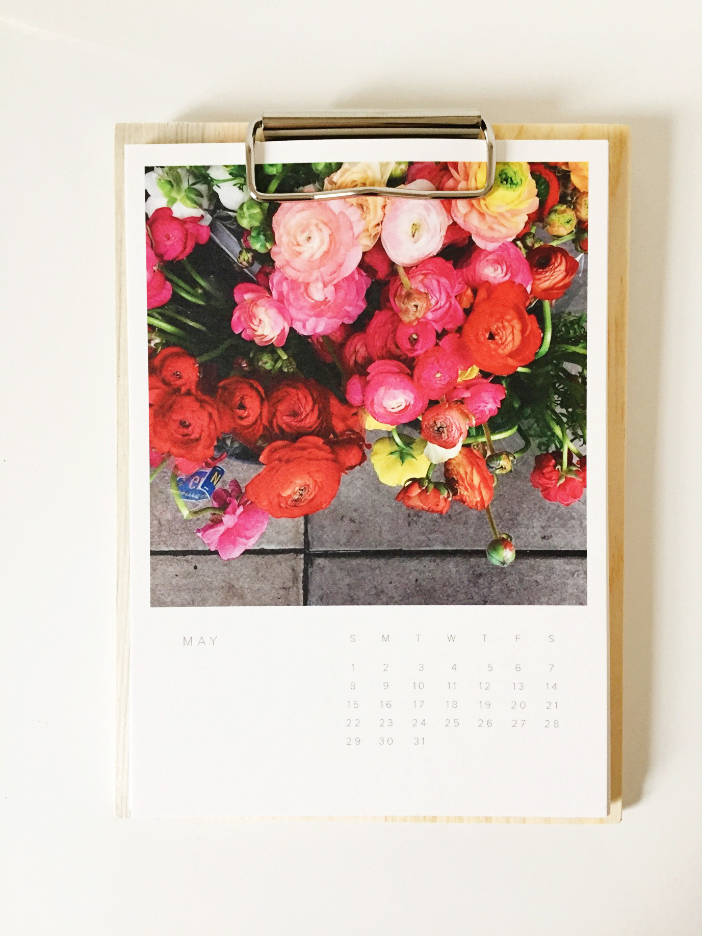 May 2016 desk calendar by Sweet Eventide Photography