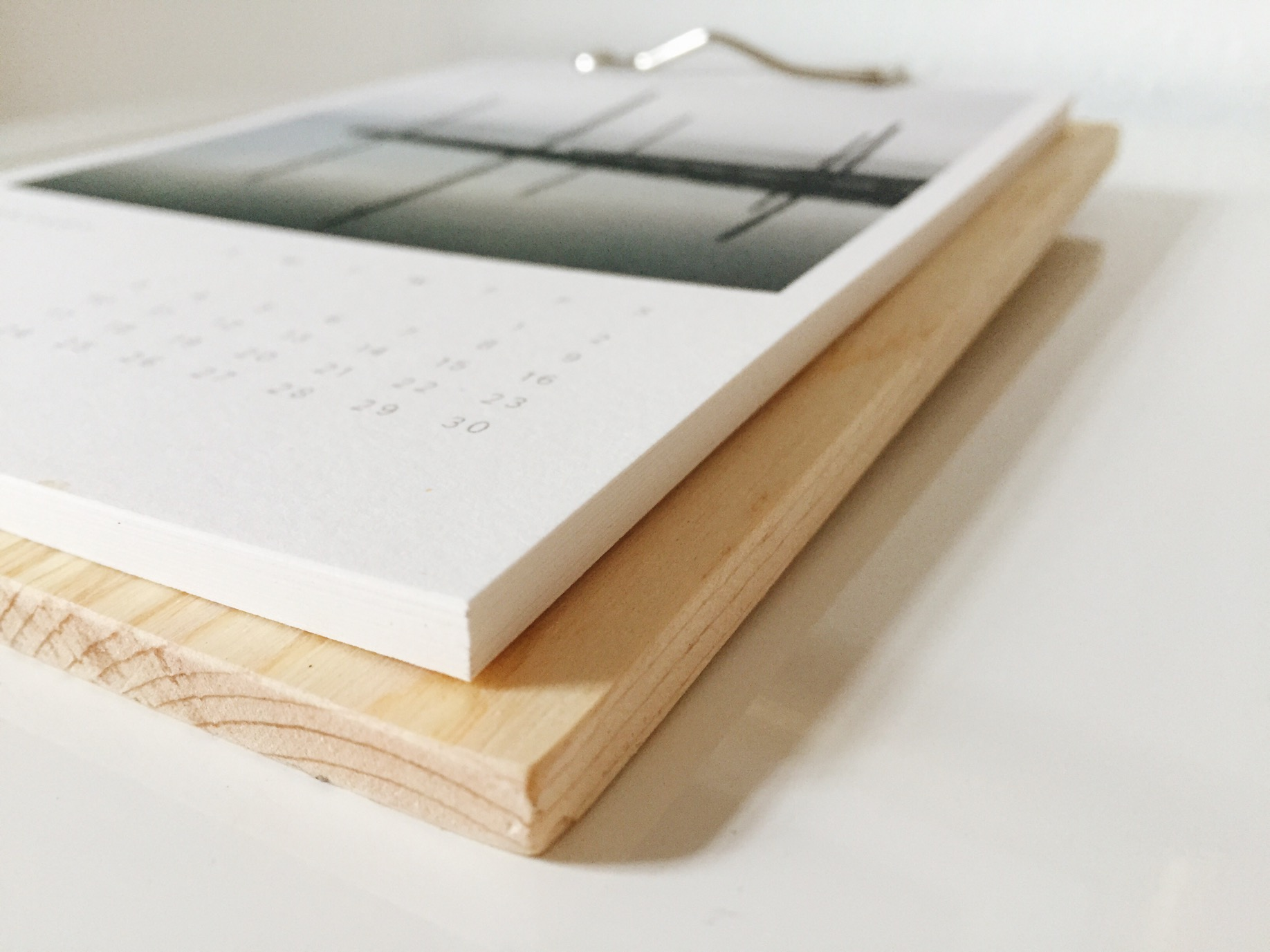 Closeup of desk calendar by Sweet Eventide Photography