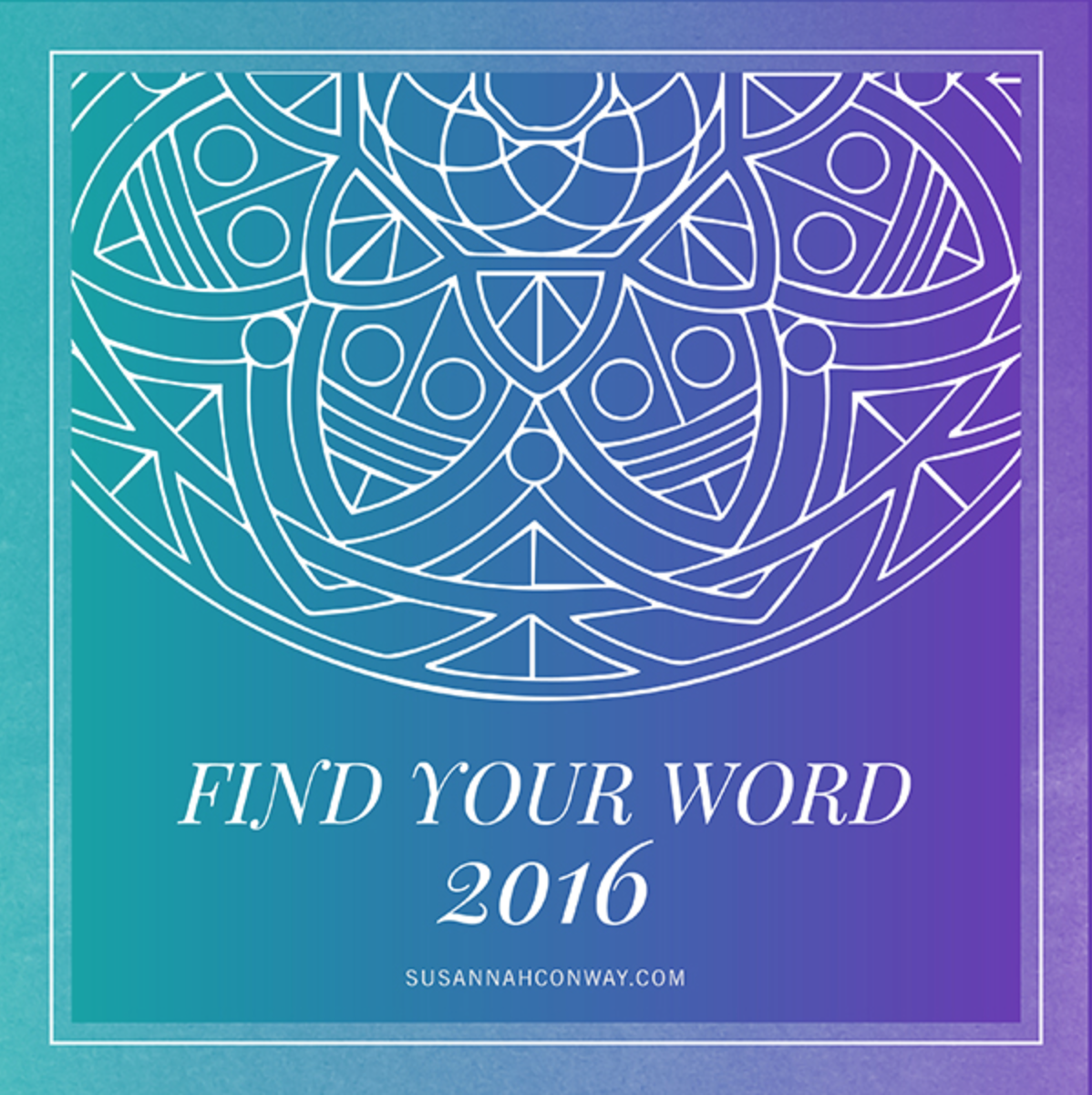 Find Your Word 2016 email course with Susannah Conway