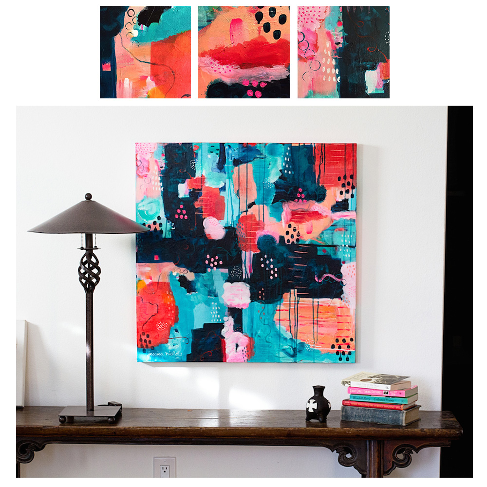 original abstract painting by portland artist jessica nichols