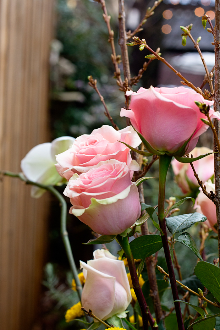 Pink roses at Sellwood Flower Co., photographed by Jessica Nichols, Sweet Eventide