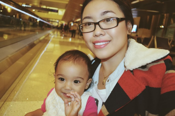 baby in Philippine airport