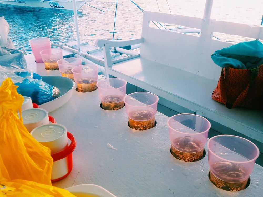 Boating in Cebu, Philippines Drink