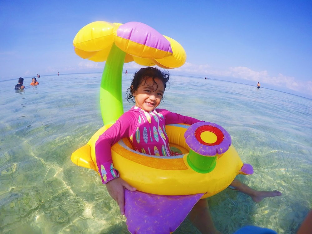 Badian for Holy Week with summer essential kit toddler cebu