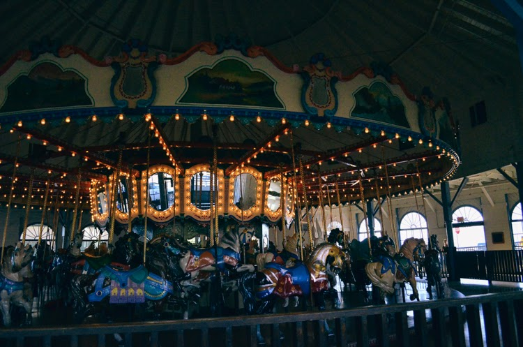 Santa Monica Pier with my baby girl carousel