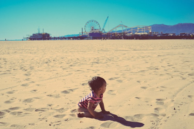 Santa Monica Pier with my baby girl
