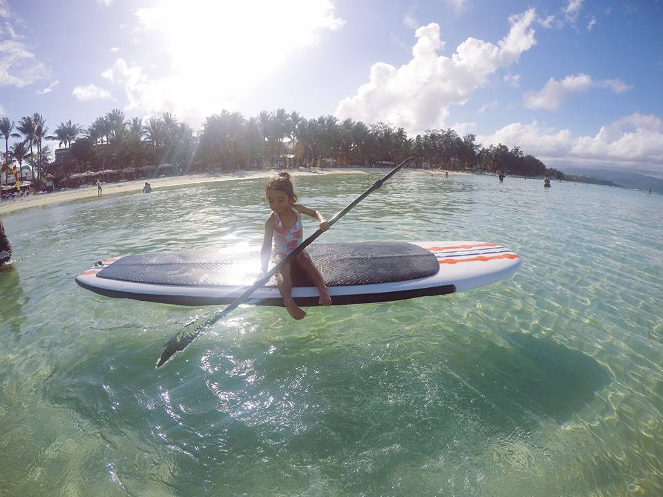 Boracay 2016 Part 2 Paddle boarding toddler mom family