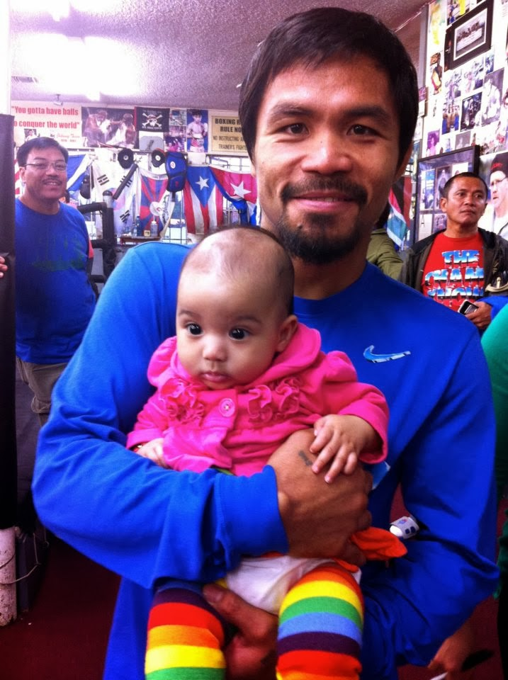 Baby with Manny Pacquiao